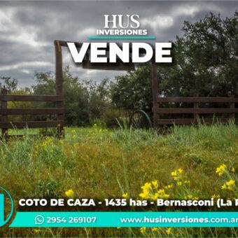 COTO DE CAZA de 1435 has en Bernasconi (La Pampa)