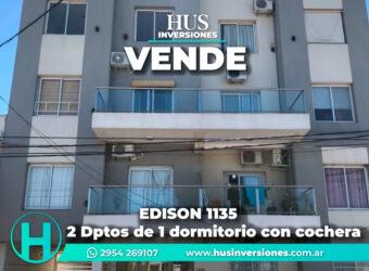 EDISON 1135 – 2 Dptos de 1 dormitorio con cochera