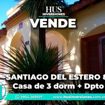 SANTIAGO DEL ESTERO 895  – CASA+ Depto