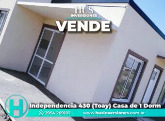 Independencia 430 (Toay) Casa de 1 Dorm